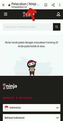 Cara Cek Resi via Website Ninja Xpress