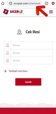 Cek Resi Lewat Website Resmi SiCepat