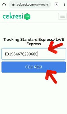 shopee express standard cek resi