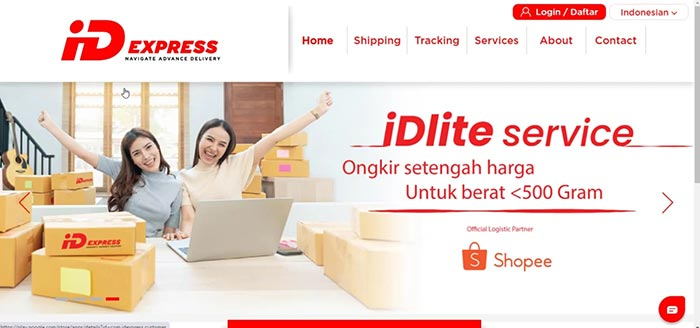 Cara Cek Resi IDExpress via Website