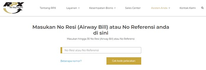 Cara Cek Resi RPX Lewat Website Resmi