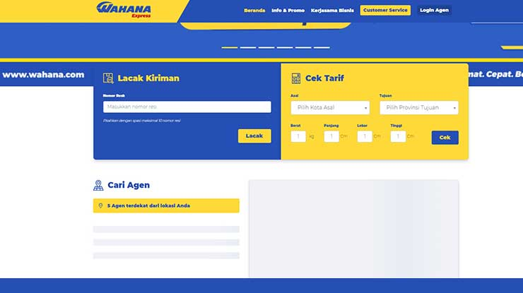 Cara Cek Resi via Website Wahana