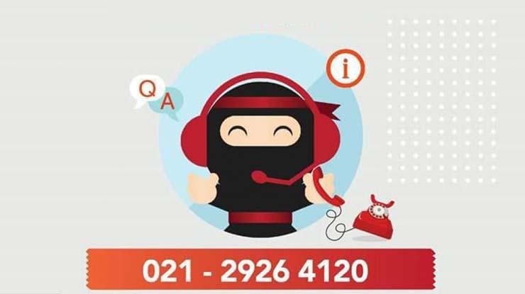 Cara Komplain via Call Center Ninja Express