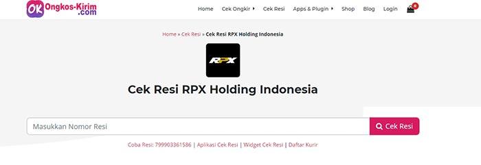 Cek Resi RPX