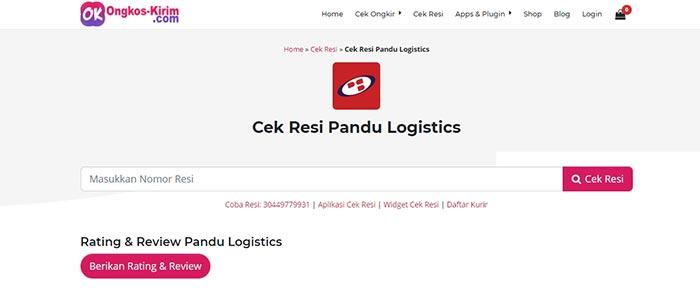 Lacak Pengiriman Pandu Logistic