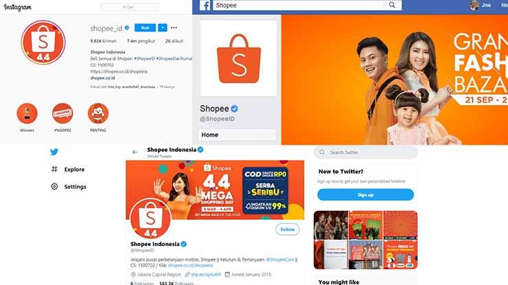 Sosial Media Shopee Express