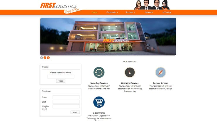 Cara Cek Resi First Logistics via Website