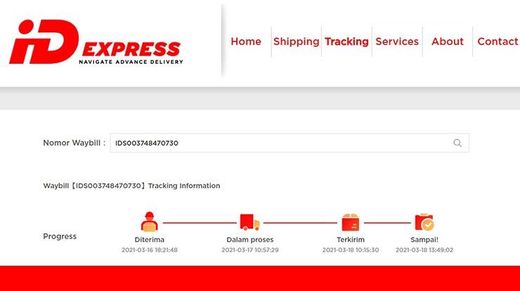 Status Pengiriman ID Express