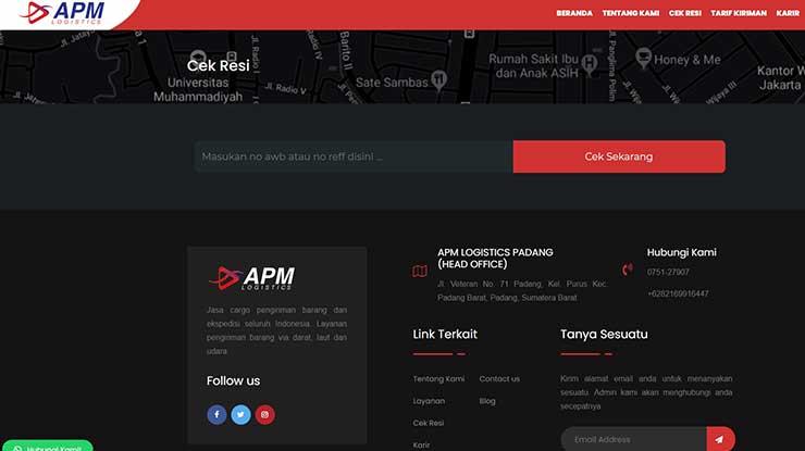 Cara Cek Resi APM Logistic via Website Resmi