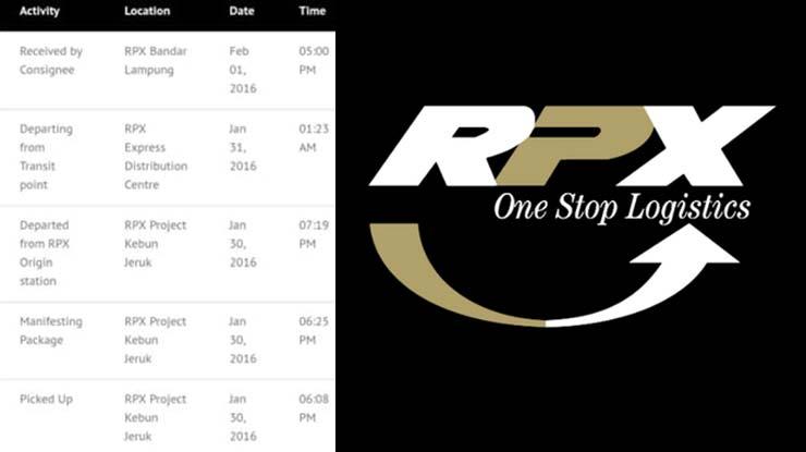 Status Pengiriman RPX