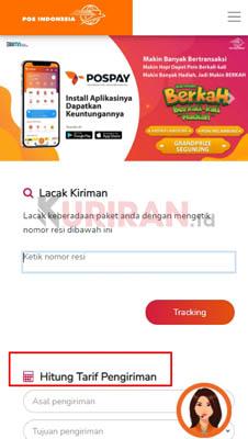 Cara Cek Tarif POS Indonesia
