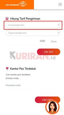 cek tarif cargo pos indonesia