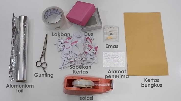 Cara Packing Emas