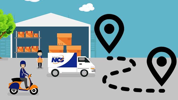 pengiriman melalui ncs